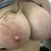 My wife loves showing off her big tits