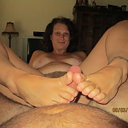 Having fun with my body for your pleasure self pleasuring and foot job