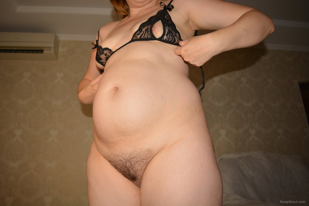 My wife showing her body and creamy pussy
