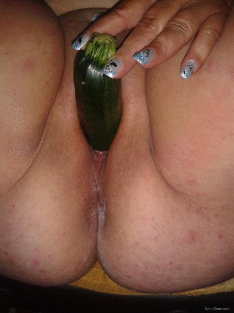 Playing with speculum banana and cream having fun with pussy
