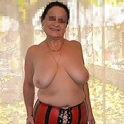 With still the corset and suspenders Mary kept stripped down to the bare essentials
