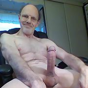 Exhibitionist Daddy and his big hard cock