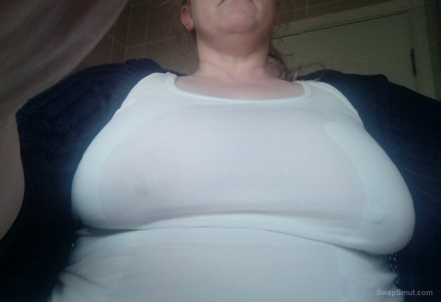 Wifes big tits what do you think, Have kik