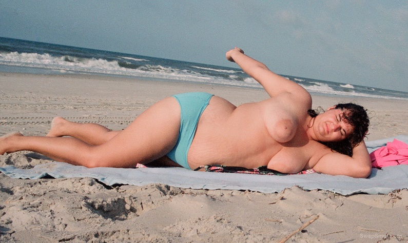 Nude beach slut wife