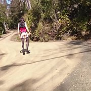 Cross Dress walk - Mountain road