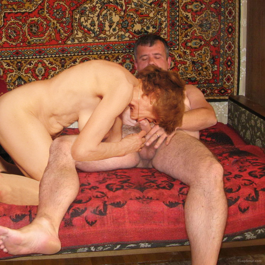 Blowjobs and fucking of slim mature woman with lovers