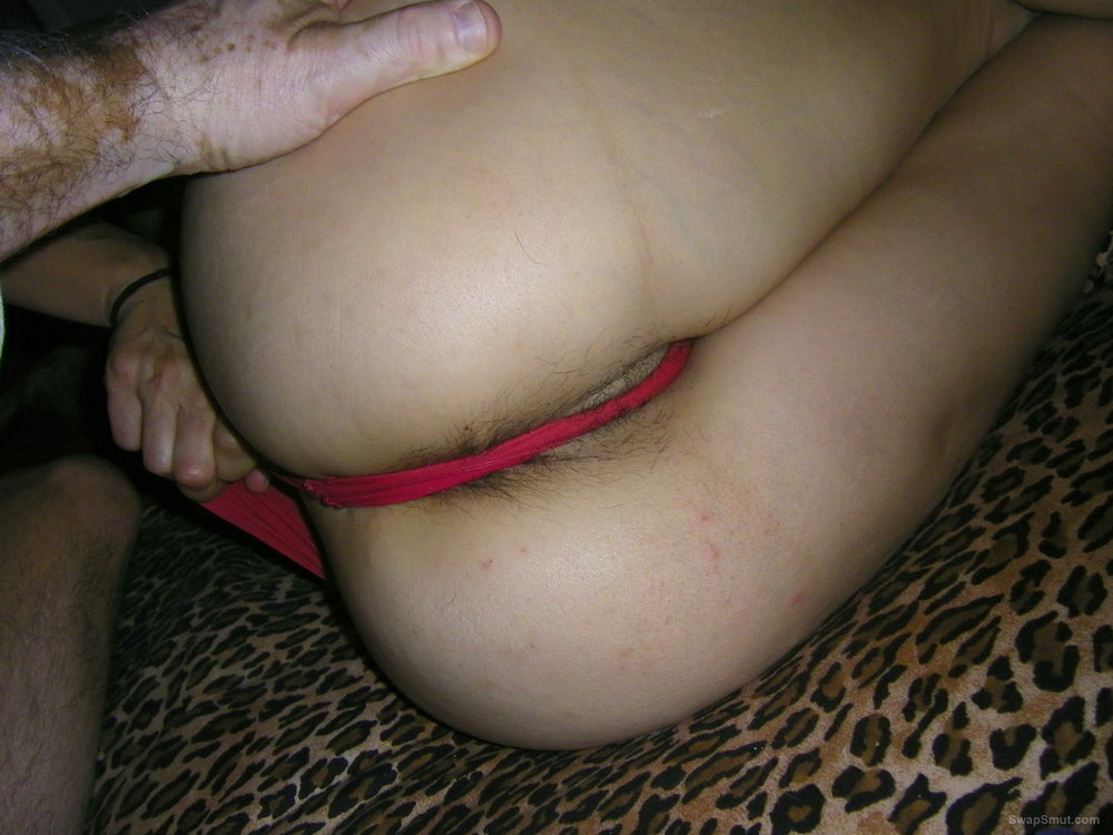 Gorgeous wife fuck from behind in red panties hairy pussy pics