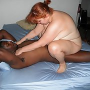 Busty slutty wife showing off her hot mature BBW body interracial sex