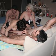 Amateur swinger sex orgy wife swapping bareback sex with strangers