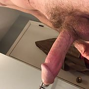 Jerking my cock several times a day