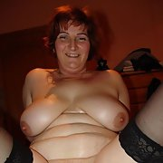 Mature naked amateur BBW wife making homemade porn