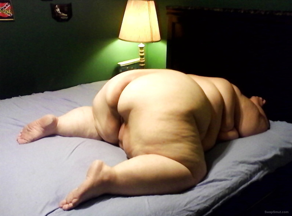 My horny ssbbw wife showing off nude around the house