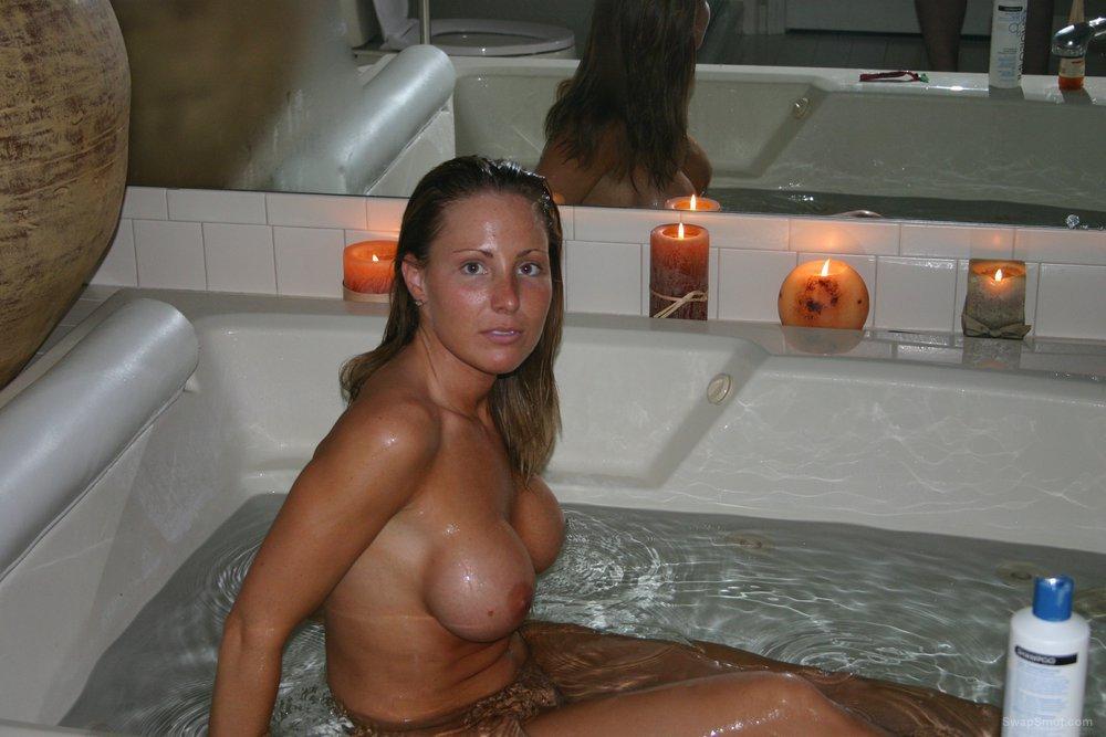 Wet big tit milf shaving, sucking and riding dildo