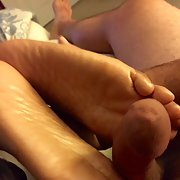 My Ebony wife likes to have her feet worshipped