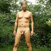 Naked posing in wood and i hope you enjoy it