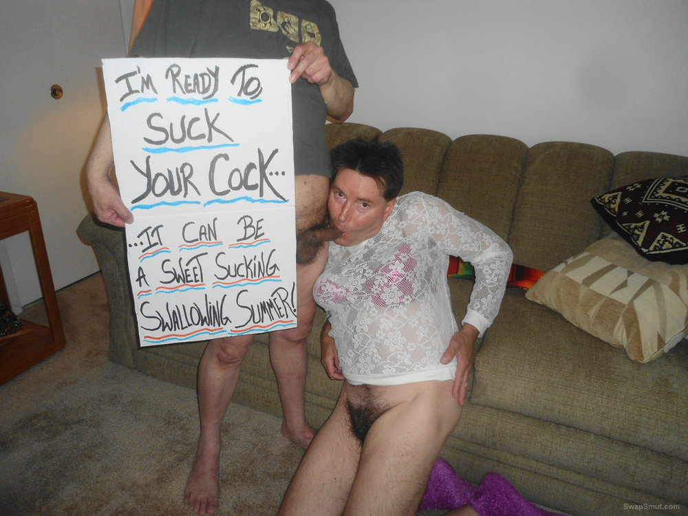 I'm ready to suck your cock, it can be a sweet swallowing summer