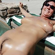 Frenchmilf michele mature outdoor exhib