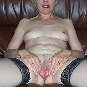 Mature Chav UK Council Estate Wife Strips and spreads