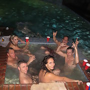 Wild sex party amateurs hot tub orgy