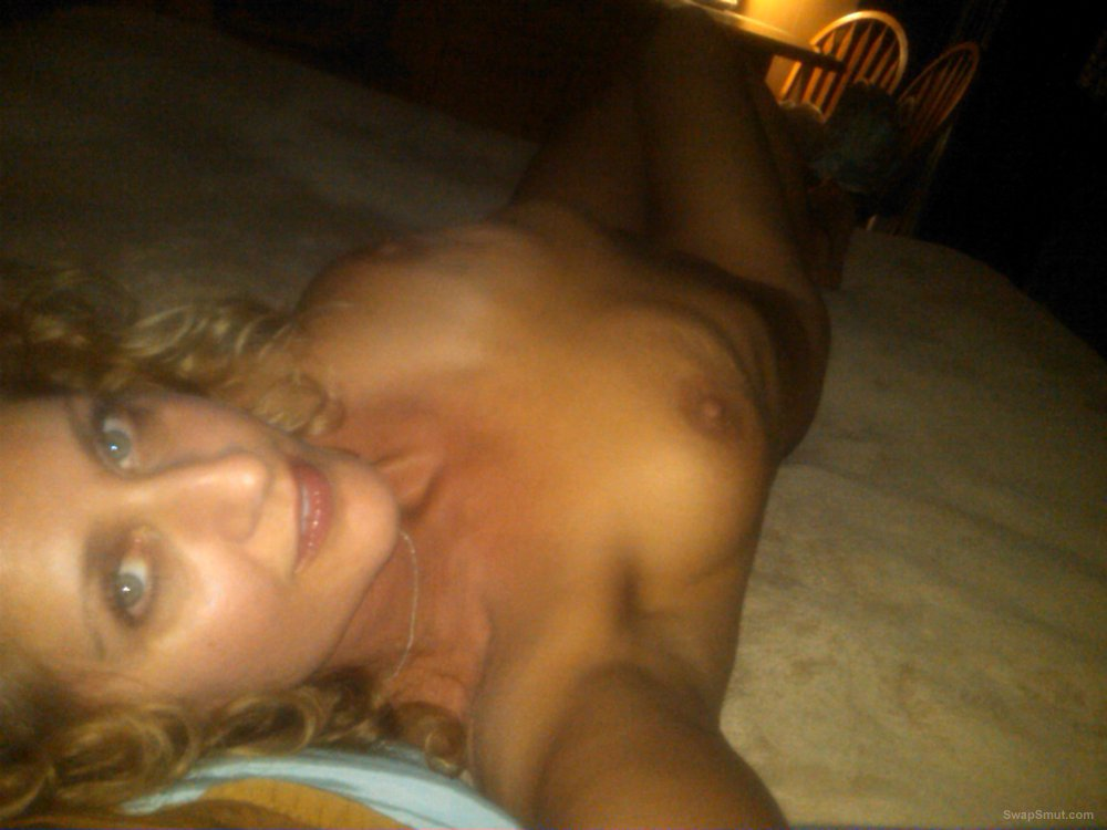 sexy blonde naked on the bed