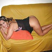Nice thick beurette showing her panties big butt plump amateur