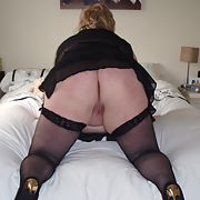 Hot uk bbw in fishnet stockings and suspenders