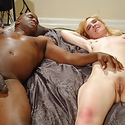 Mature blonde and black cock whore