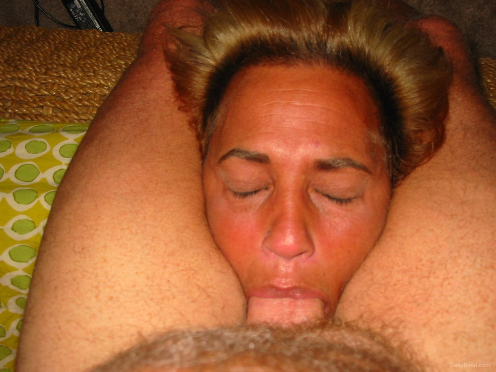 Nasty mature sucking cock and showing her body I bet you want her