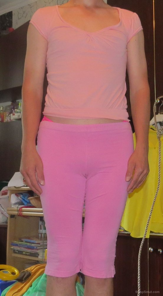 Some crosdress pics again trying wife's pink clothes