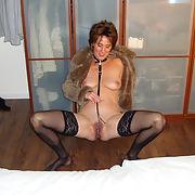 Melissa using her black dildo and enjoying herself 2