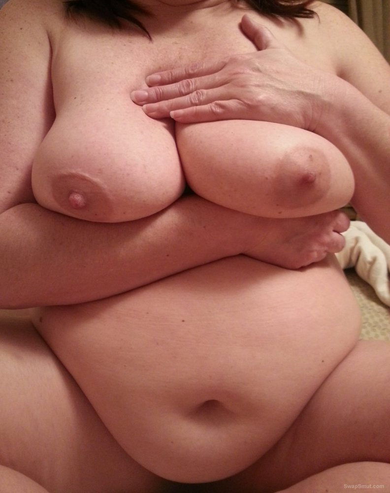 BBW wife shows her hairy wet pussy and masturbates