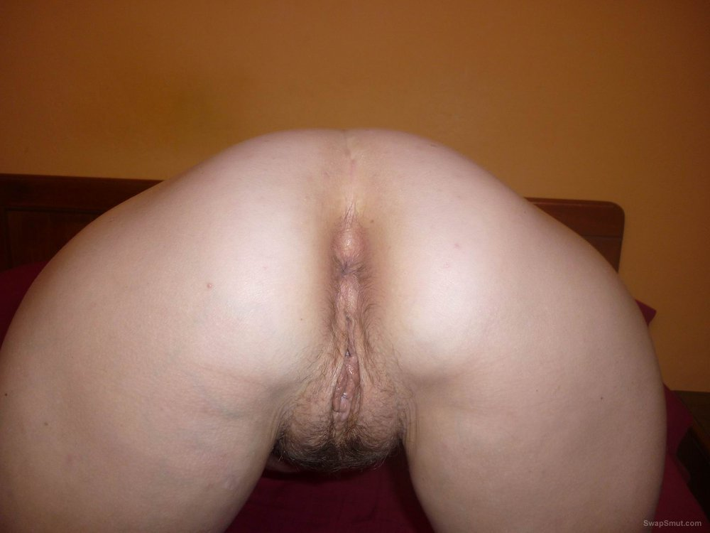Dirty slut wife butt and pussy bent over waiting for sex ass gaping