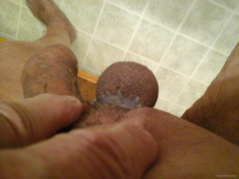 My cock and my one and only ball