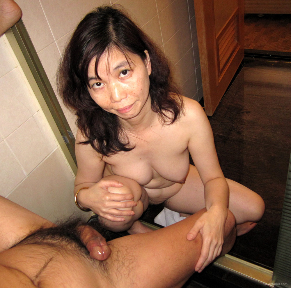 Dirty Asian Ann Takes a Nice Delivery Into Her Mouth