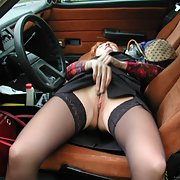 Bisexual swinger wife getting ready for a horny night out