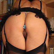 Mature slut with a fine body posing for hubby's camera 2