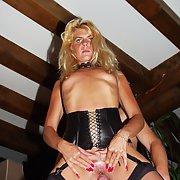 Coco The Blonde Slut fucking in public and sucking cocks