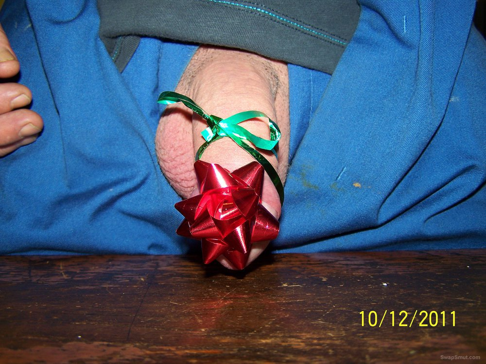christmas cock present wrapped for you