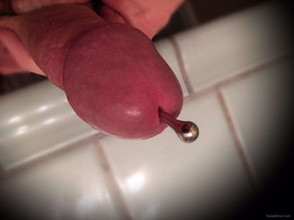 Cock plugged to keep me from blowing my load