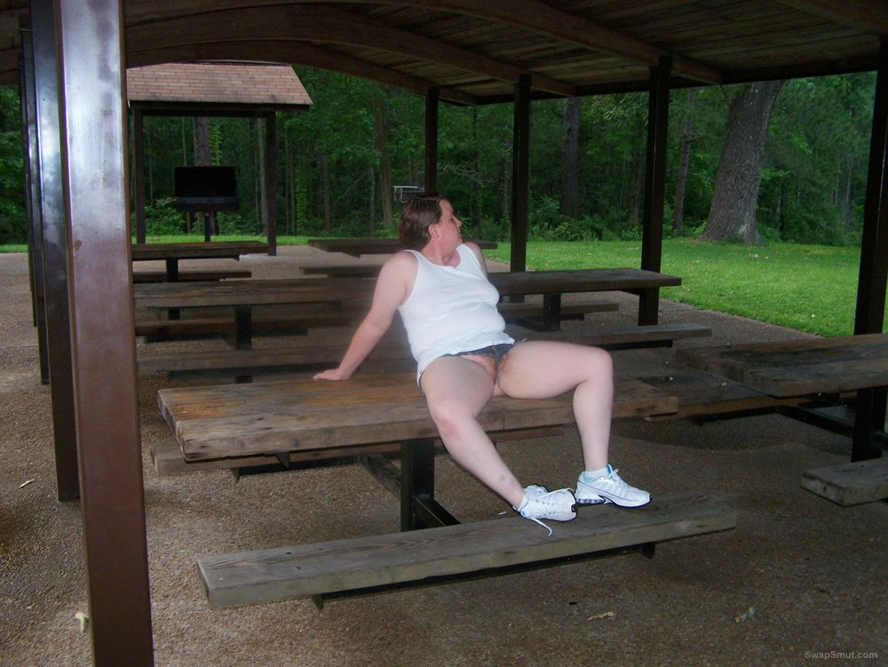 Pictures of the wife exposing herself in the park and other places