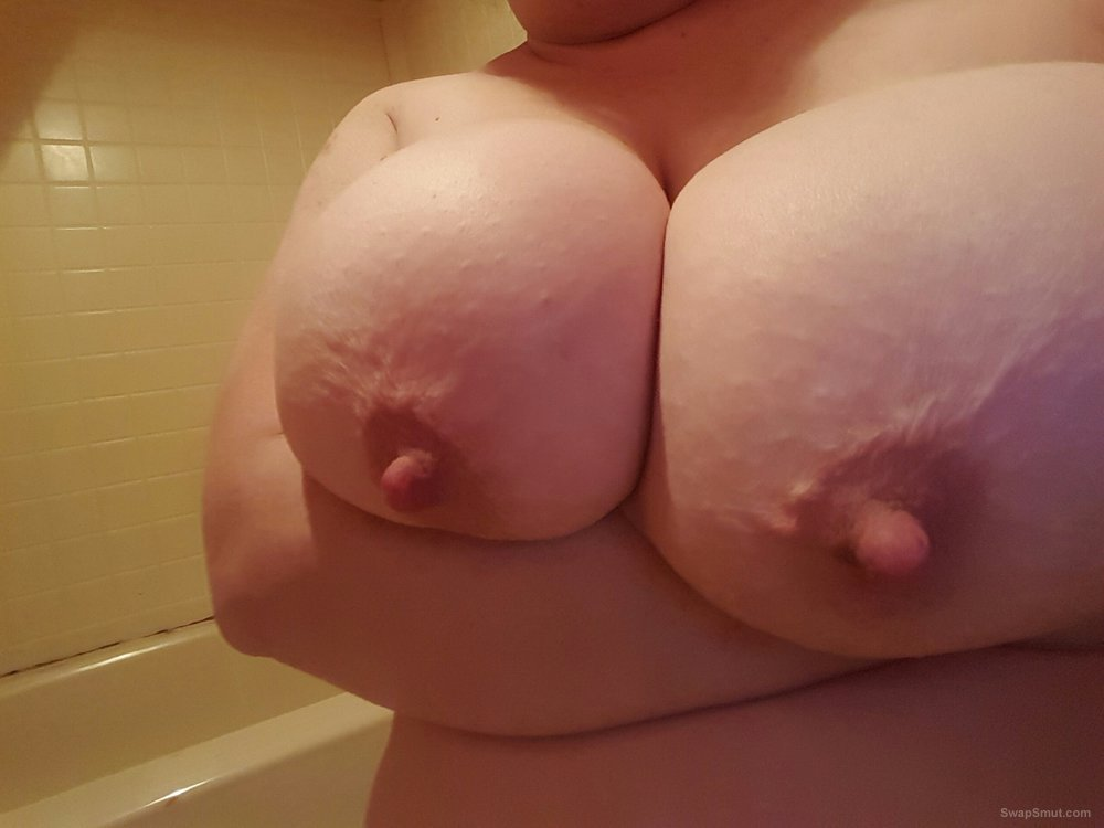 My BBW freinds tits showing off how lovely they are