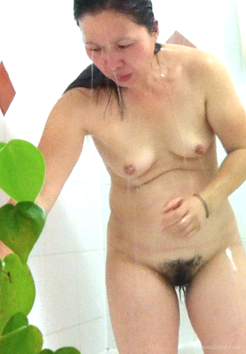 Japanese mother and this is my body naked while taking a shower
