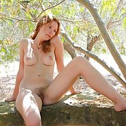 Amazing french redhead amateur exposed - outdoors 1