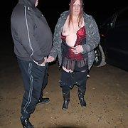 sex cum slut TAZZ on the prowl dogging for a stranger fuck