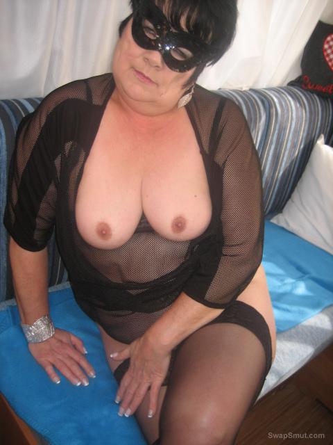 ich bin dauergeil bbw black lingerie see through top