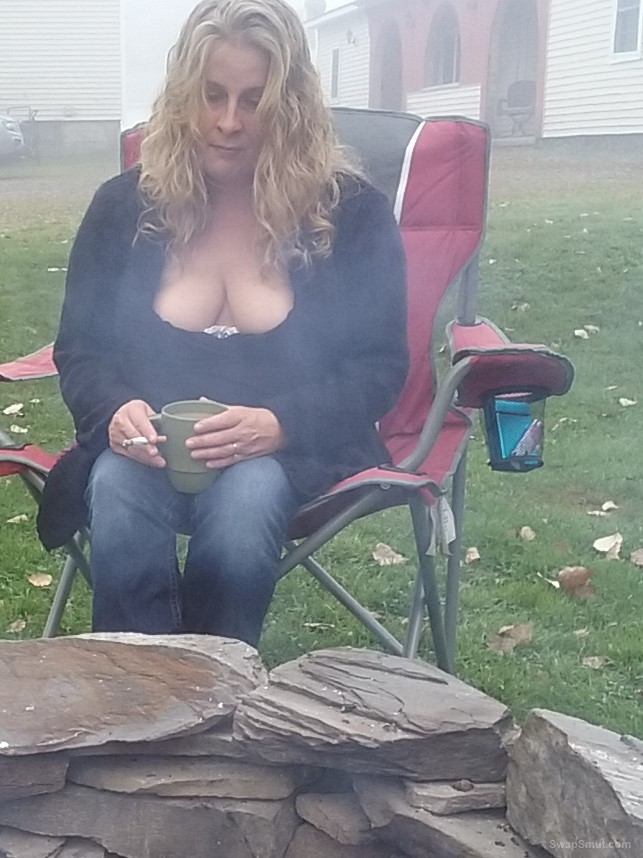 Show My Boobs Outside This Morning At The Firepit