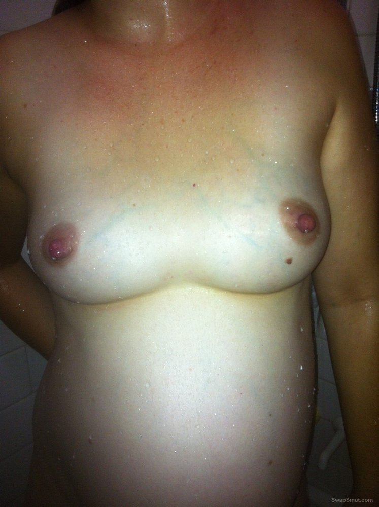 At home playing around with husband cum dripping from cunt