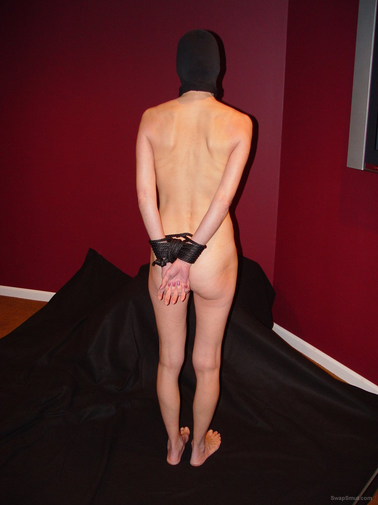 Submissive Wife Bondage Blowjob Wearing A Black Mask