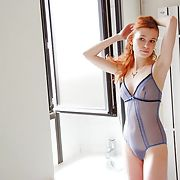 Amazing french redhead amateur exposed - bathroom part