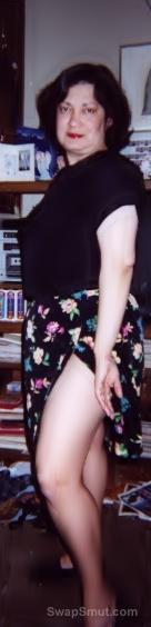 My pic taken this past summer just me posing flashing bra at camera